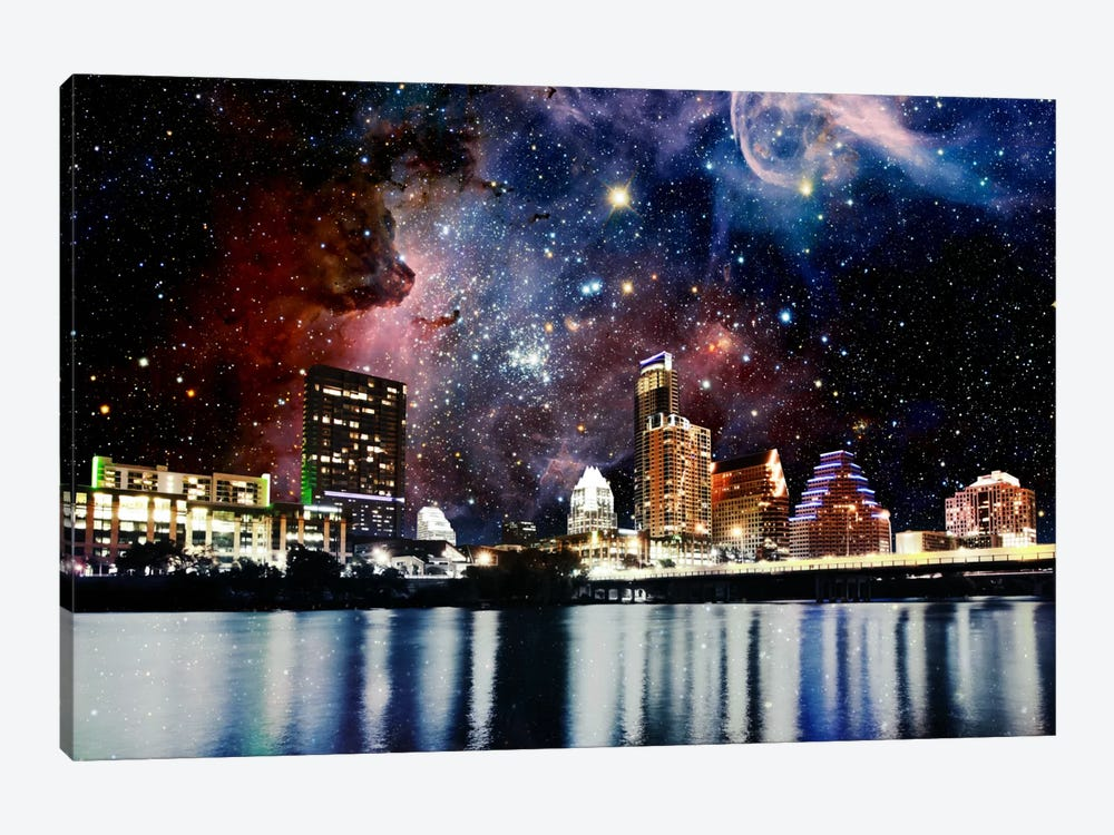 Austin, Texas Carina Nebula Skyline by 5by5collective 1-piece Canvas Print