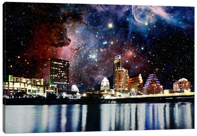 Austin, Texas Carina Nebula Skyline Canvas Art Print
