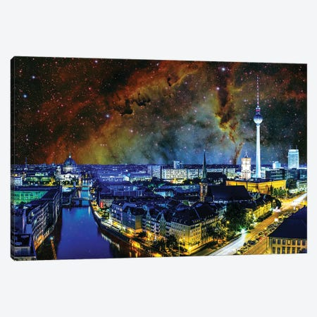 Berlin, Germany Elephant's Trunk Nebula Skyline Canvas Print #SKY35} by 5by5collective Canvas Art Print