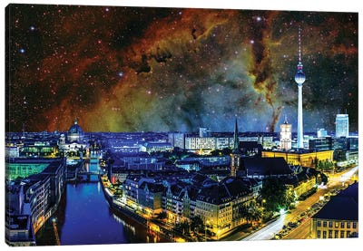 Berlin, Germany Elephant's Trunk Nebula Skyline Canvas Art Print