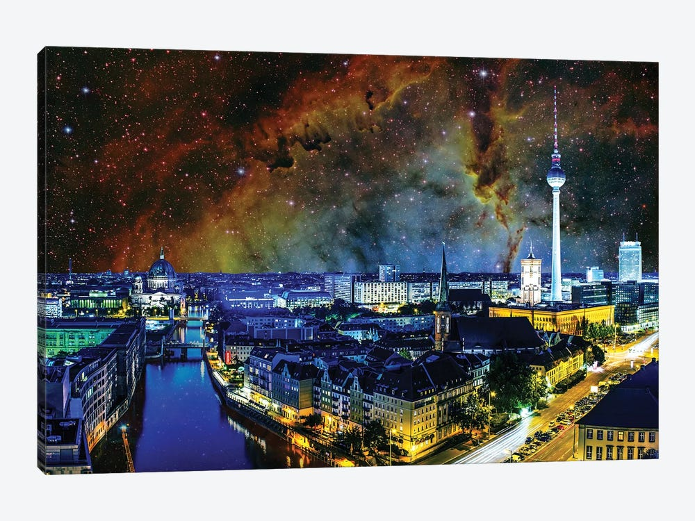 Berlin, Germany Elephant's Trunk Nebula Skyline by iCanvas 1-piece Canvas Artwork