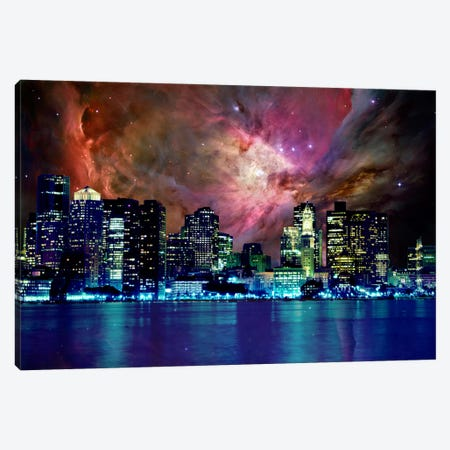 Boston, Massachusetts Orion Nebula Skyline Canvas Print #SKY36} by 5by5collective Canvas Art Print