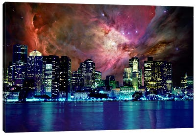 Boston, Massachusetts Orion Nebula Skyline Canvas Art Print