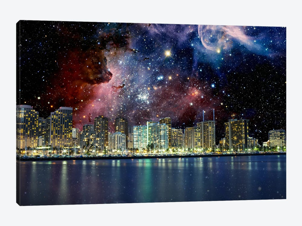Honolulu, Hawaii Carina Nebula Skyline by iCanvas 1-piece Canvas Art