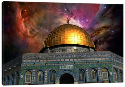 Jerusalem Orion Nebula Skyline Canvas Art Print