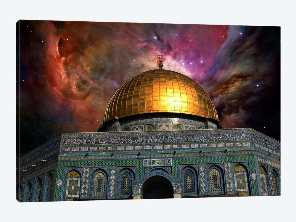 Jerusalem, Israel Orion Nebula Skyline by iCanvas 1-piece Canvas Wall Art