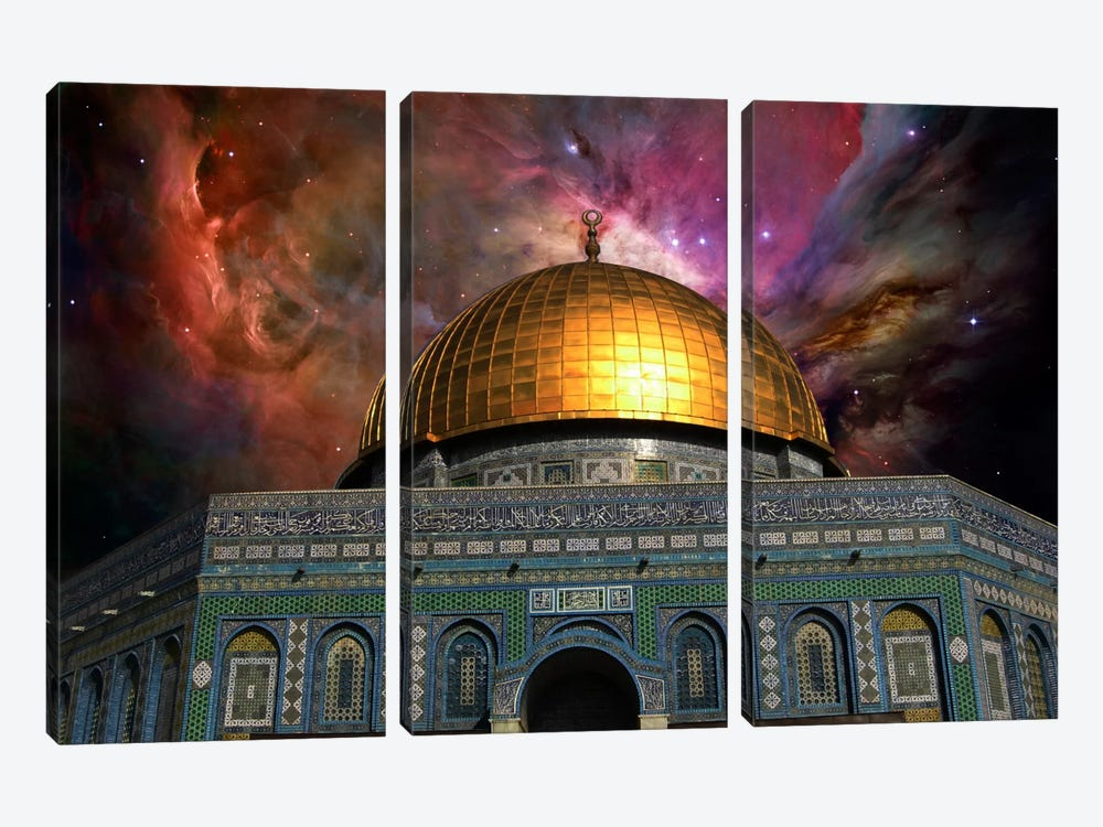 Jerusalem, Israel Orion Nebula Skyline by iCanvas 3-piece Canvas Artwork