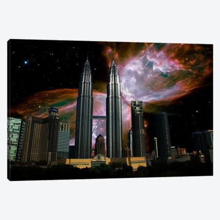 Kuala Lumpur, Malaysia City Skyline Butterfly Nebula Skyline Canvas Print #SKY41} by 5by5collective Canvas Art Print