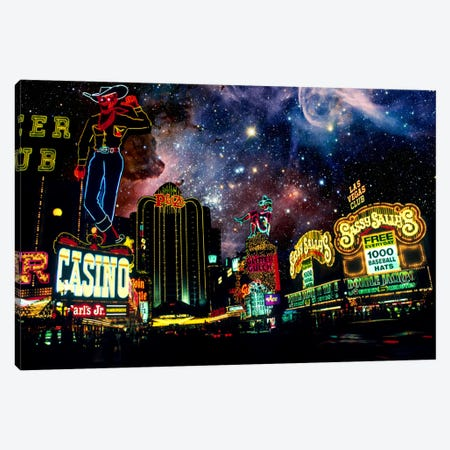 Las Vegas, Nevada Carina Nebula Skyline Canvas Print #SKY42} by 5by5collective Canvas Print