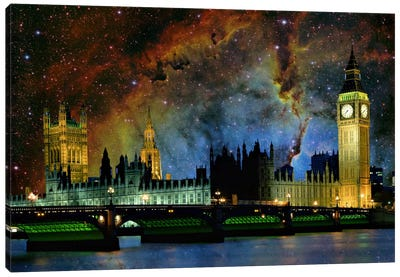 London, England Elephant's Trunk Nebula Skyline Canvas Art Print