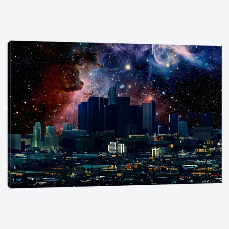 Los Angeles, California Carina Nebula Skyline Canvas Print #SKY44} by 5by5collective Canvas Wall Art
