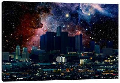 Los Angeles, California Carina Nebula Skyline Canvas Art Print