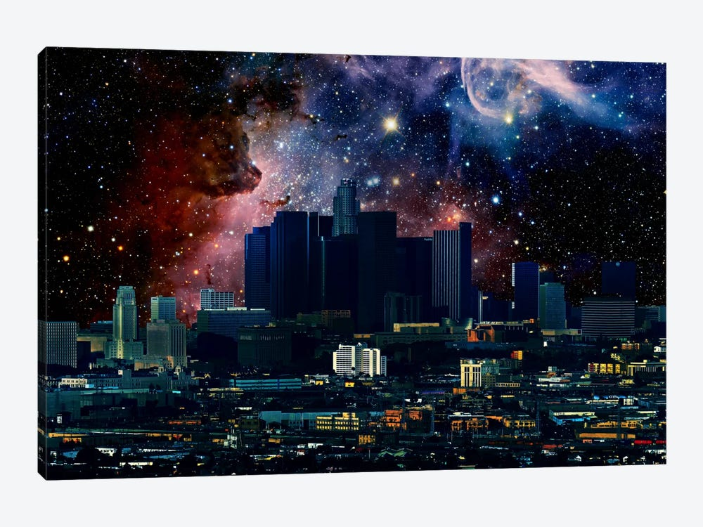 Los Angeles, California Carina Nebula Skyline by 5by5collective 1-piece Canvas Artwork