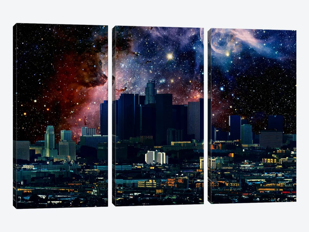 Los Angeles, California Carina Nebula Skyline by 5by5collective 3-piece Canvas Artwork