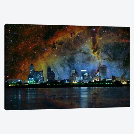 Memphis, Tennessee Elephant's Trunk Nebula Skyline Canvas Print #SKY45} by 5by5collective Canvas Art