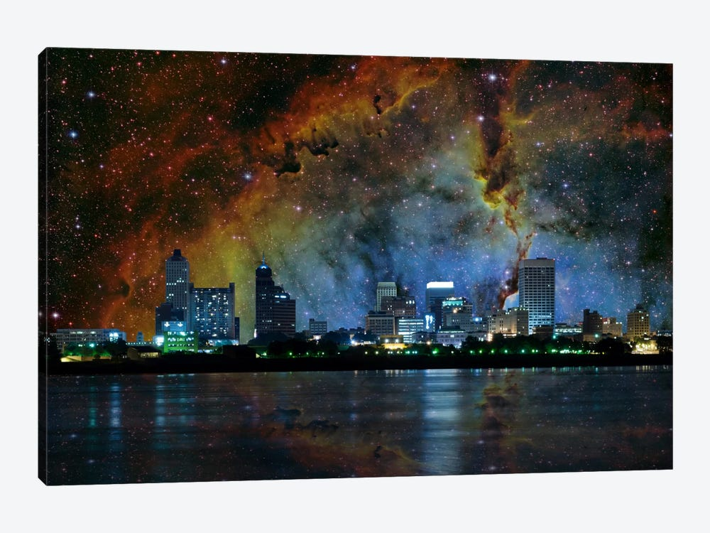 Memphis, Tennessee Elephant's Trunk Nebula Skyline 1-piece Canvas Art Print
