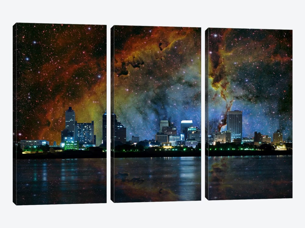 Memphis, Tennessee Elephant's Trunk Nebula Skyline by iCanvas 3-piece Canvas Print