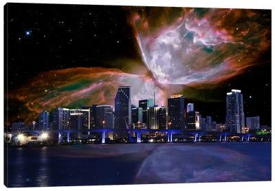 Miami, Florida Butterfly Nebula Skyline Canvas Print #SKY46