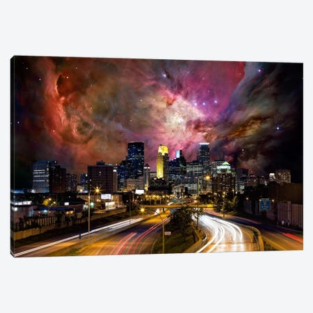 Minneapolis, Minnesota Orion Nebula Skyline Canvas Print #SKY47} by 5by5collective Canvas Wall Art