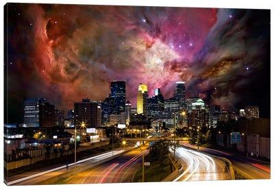 Minneapolis, Minnesota Orion Nebula Skyline Canvas Art Print