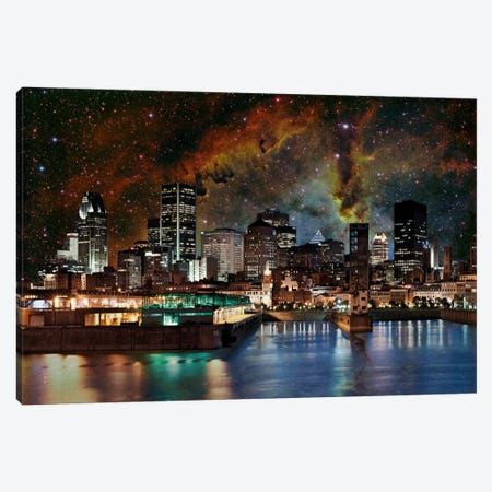 Montreal, Canada Elephant's Trunk Nebula Skyline Canvas Print #SKY48} by 5by5collective Canvas Print