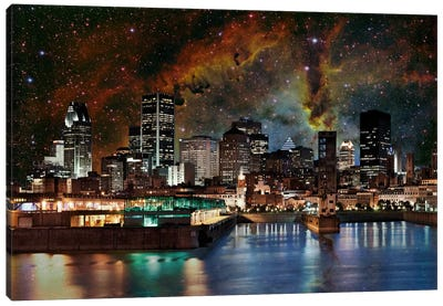 Montreal, Canada Elephant's Trunk Nebula Skyline Canvas Art Print