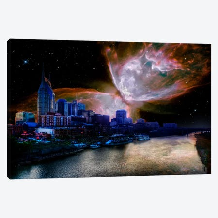 Nashville, Tennessee Butterfly Nebula Skyline Canvas Print #SKY49} by 5by5collective Art Print
