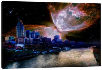 Nashville, Tennessee Butterfly Nebula Skyline Canvas Print #SKY49