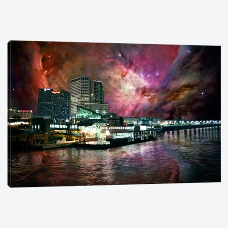 New Orleans, Louisiana Orion Nebula Skyline Canvas Print #SKY50} by 5by5collective Canvas Artwork