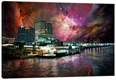 New Orleans, Louisiana Orion Nebula Skyline Canvas Art Print