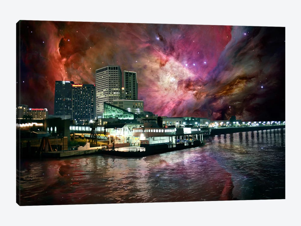 New Orleans, Louisiana Orion Nebula Skyline by 5by5collective 1-piece Canvas Print