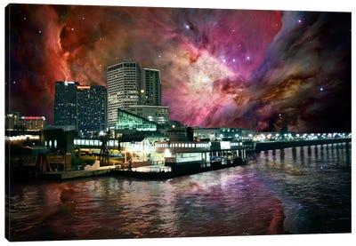 New Orleans, Louisiana Orion Nebula Skyline Canvas Art Print