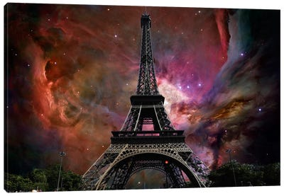 Paris, France Orion Nebula Skyline Canvas Print #SKY52