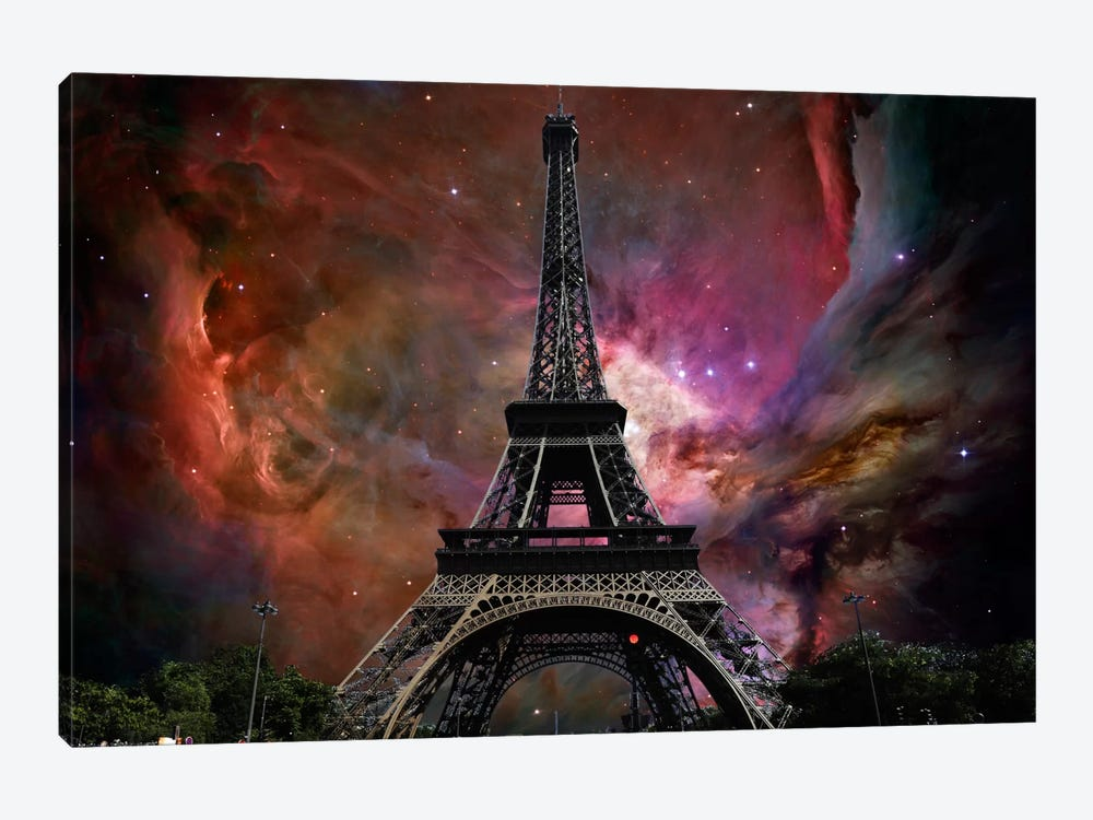 Paris, France Orion Nebula Skyline by iCanvas 1-piece Canvas Print
