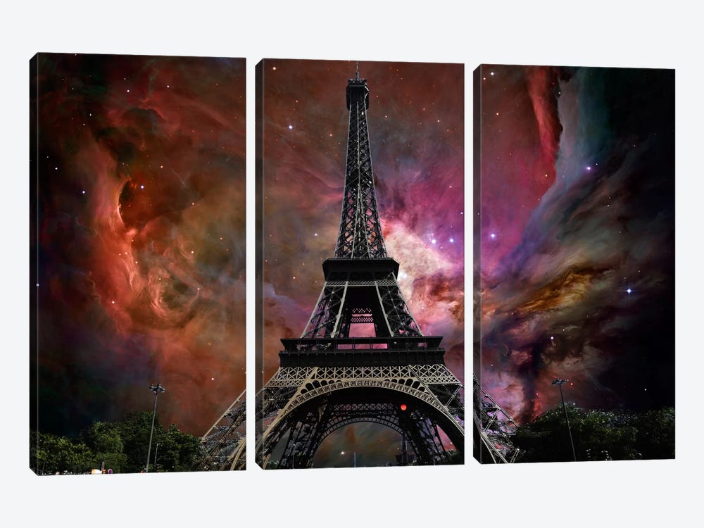 Paris, France Orion Nebula Skyline by iCanvas 3-piece Art Print