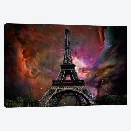 Paris, France Orion Nebula Skyline Canvas Print #SKY52} by 5by5collective Canvas Wall Art