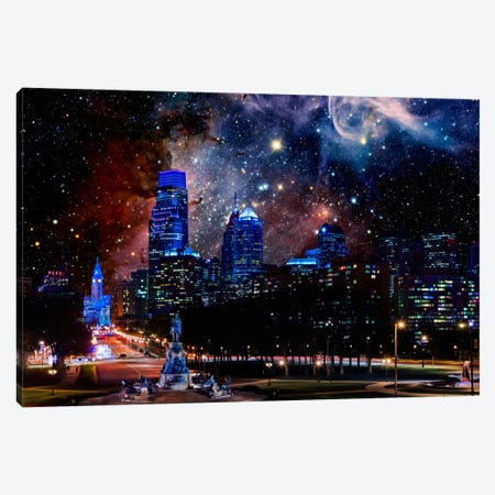 Philadelphia, Pennsylvania Carina Nebula Skyline Canvas Print #SKY53} by 5by5collective Canvas Artwork