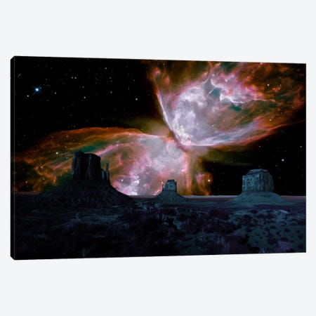 Phoenix, Arizona Butterfly Nebula Skyline Canvas Print #SKY54} by 5by5collective Art Print