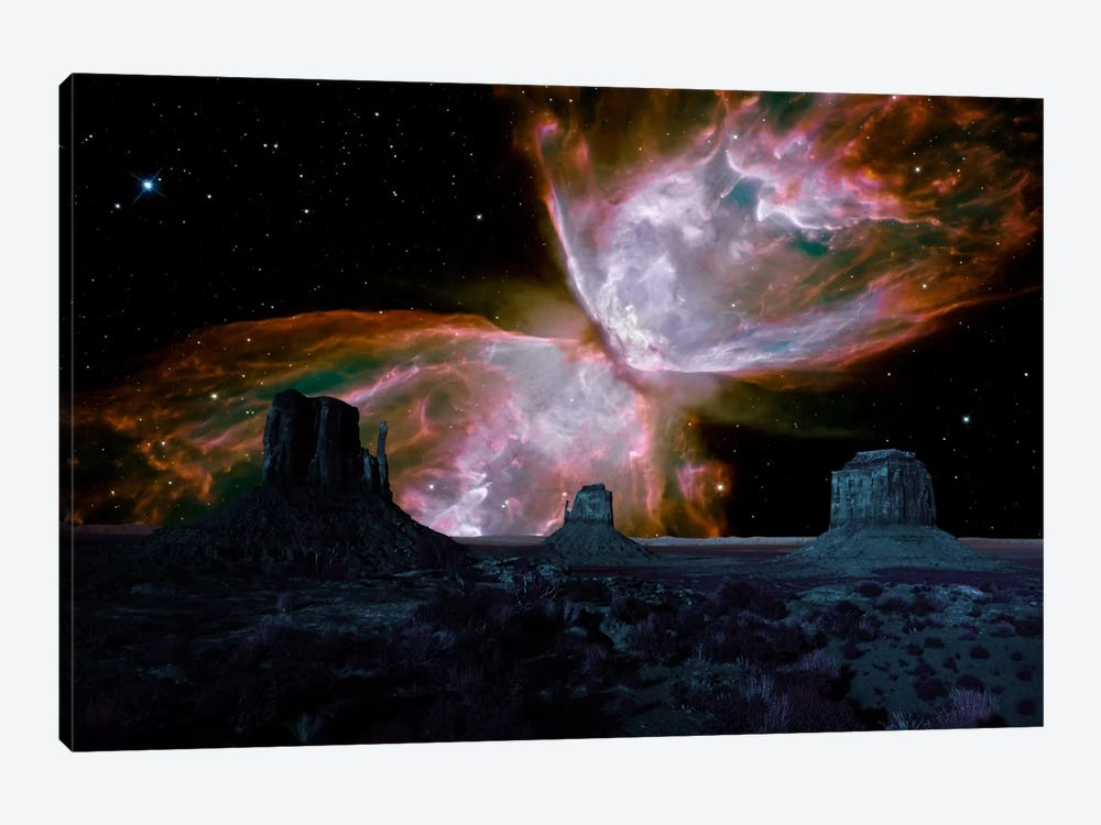 Phoenix, Arizona Butterfly Nebula Skyline by iCanvas 1-piece Canvas Art Print