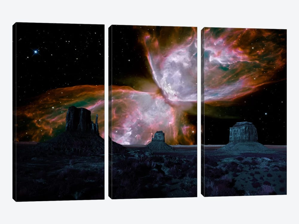 Phoenix, Arizona Butterfly Nebula Skyline by iCanvas 3-piece Canvas Art Print