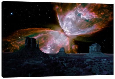 Phoenix, Arizona Butterfly Nebula Skyline Canvas Art Print