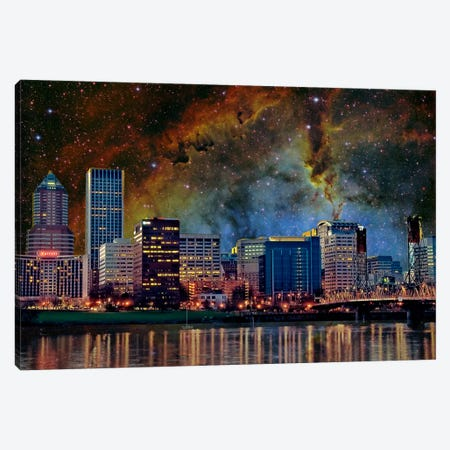 Portland, Oregon Elephant's Trunk Nebula Skyline Canvas Print #SKY55} by 5by5collective Canvas Art Print