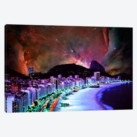 Rio de Janeiro, Brazil Orion Nebula Skyline Canvas Print #SKY56} by 5by5collective Canvas Art Print
