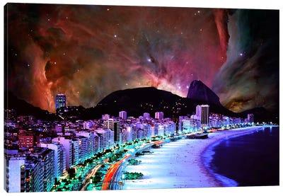 Rio de Janeiro, Brazil Orion Nebula Skyline Canvas Art Print