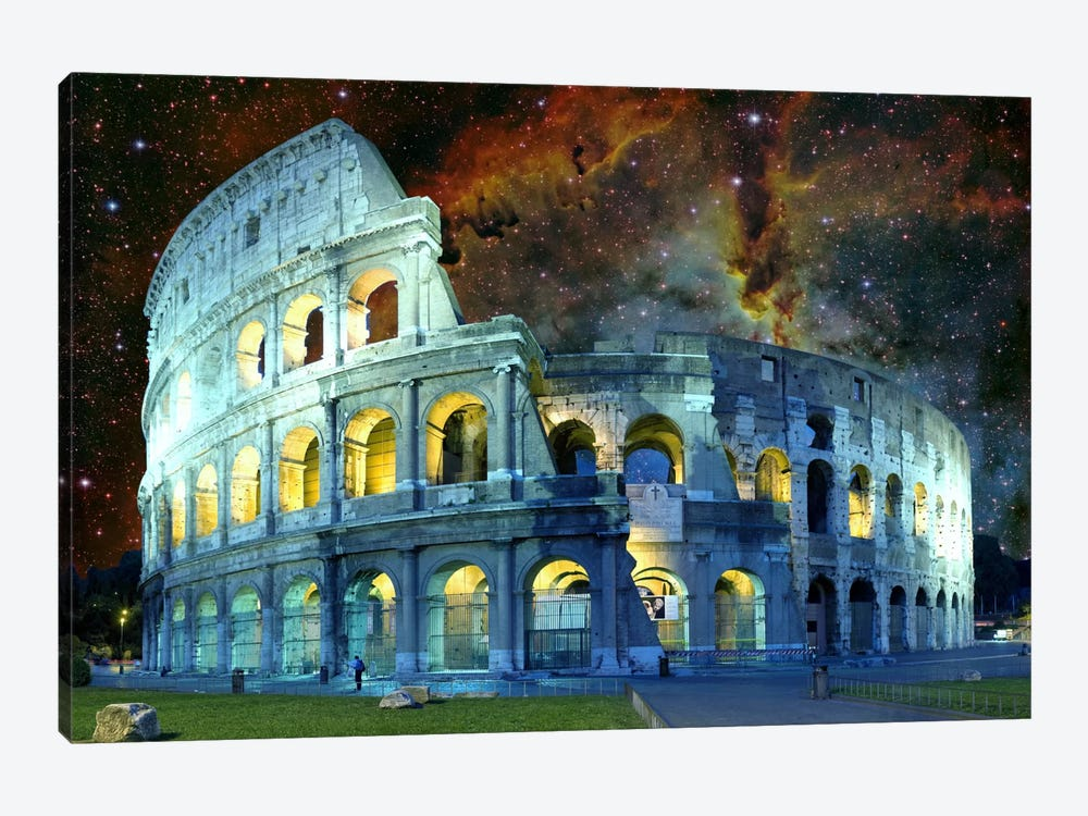 Rome, Italy Colosseum Nebula Skyline by iCanvas 1-piece Canvas Art