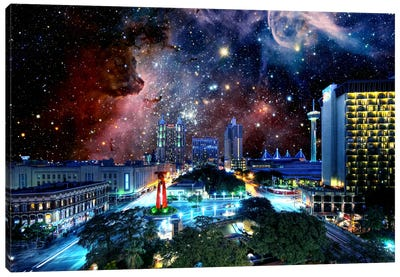 San Antonio, Texas Carina Nebula Skyline Canvas Art Print