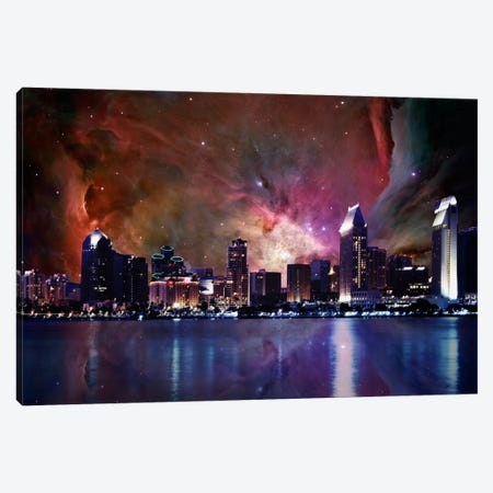 San Diego, California Orion Nebula Skyline Canvas Print #SKY59} by 5by5collective Canvas Artwork