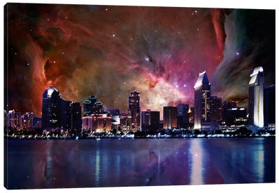 San Diego, California Orion Nebula Skyline Canvas Art Print