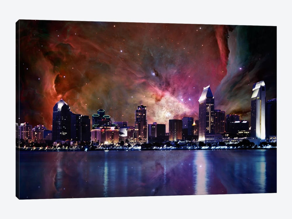 San Diego, California Orion Nebula Skyline by 5by5collective 1-piece Canvas Art