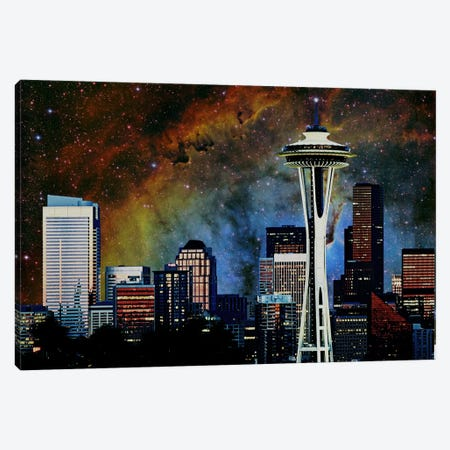 Seattle, Washington Elephant's Trunk Nebula Skyline Canvas Print #SKY61} by iCanvas Art Print